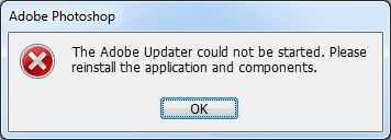 the adobe updater could not be started