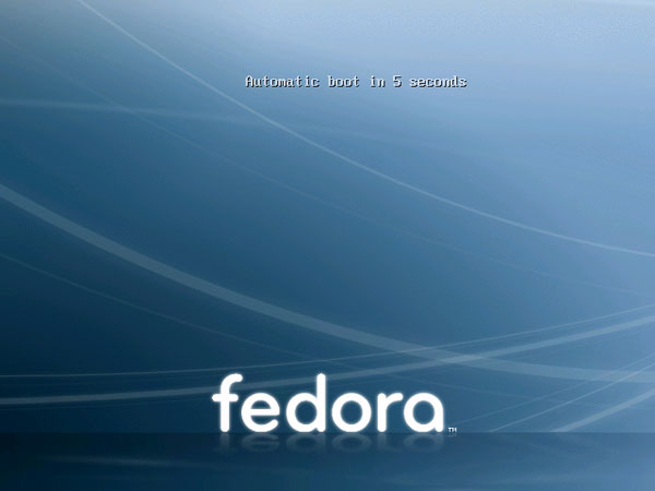 booting into the fedora live cd