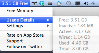 freememory to free inactive memory on mac osx