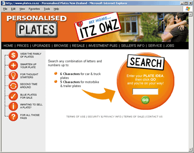 Personalised Plates Website