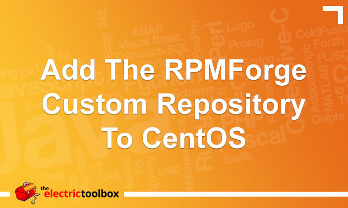 Add the RPMForge custom repository to CentOS