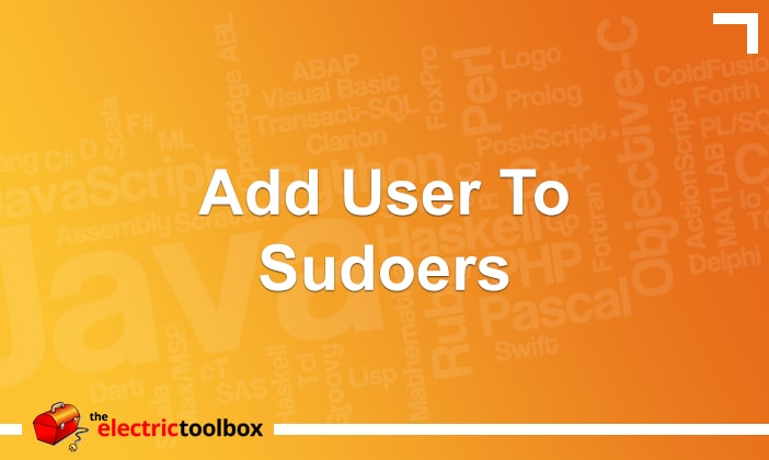 Add user to sudoers