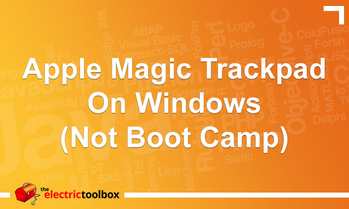 Apple Magic Trackpad on Windows (not Boot Camp)