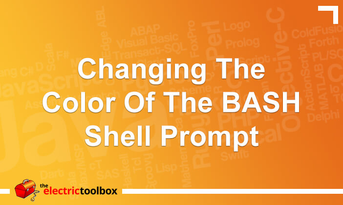 Changing the color of the BASH shell prompt