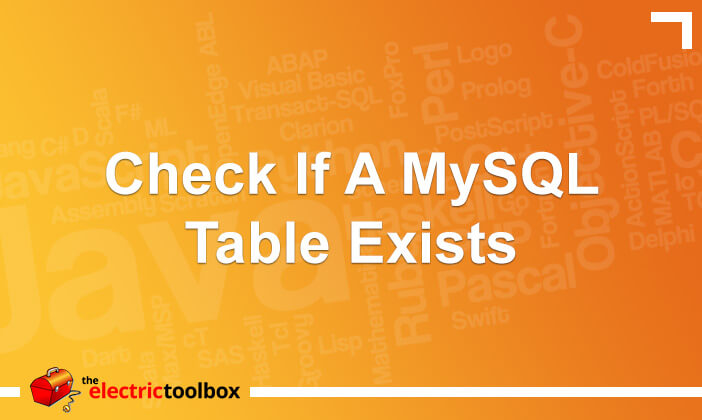 Check if a MySQL table exists