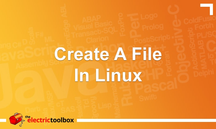 Create a file in Linux