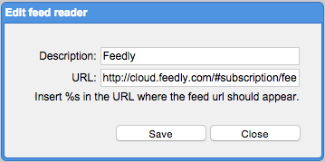 adding feedly