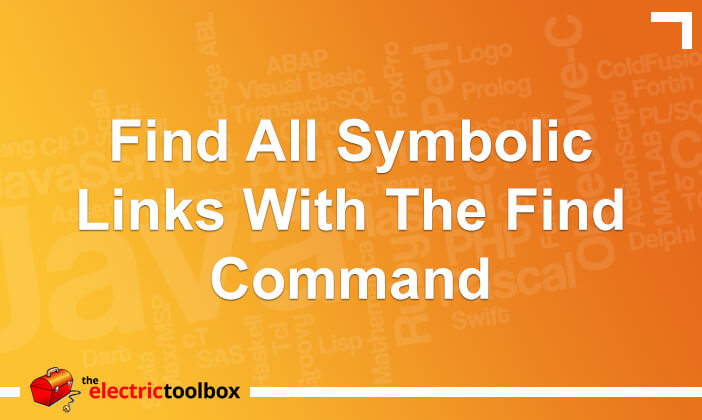 Find all symbolic links with the find command