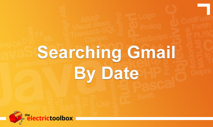 Searching Gmail by date