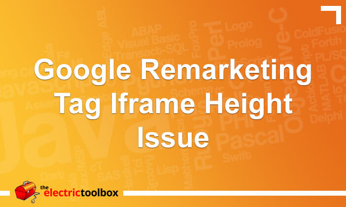 Google remarketing tag iframe height issue