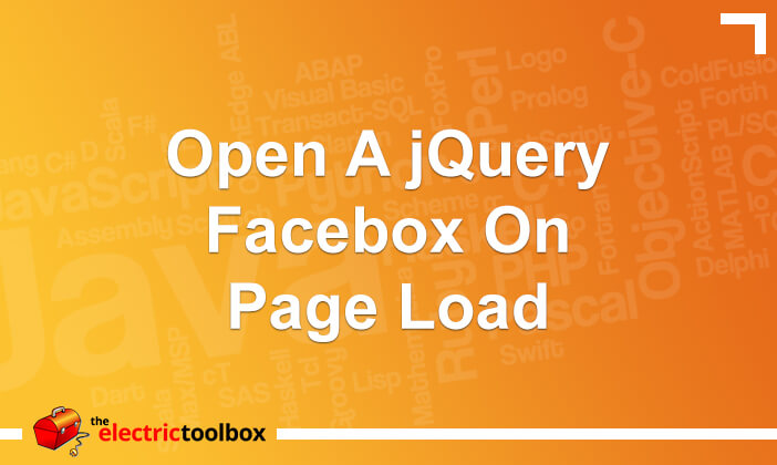 Open a jQuery Facebox on page load