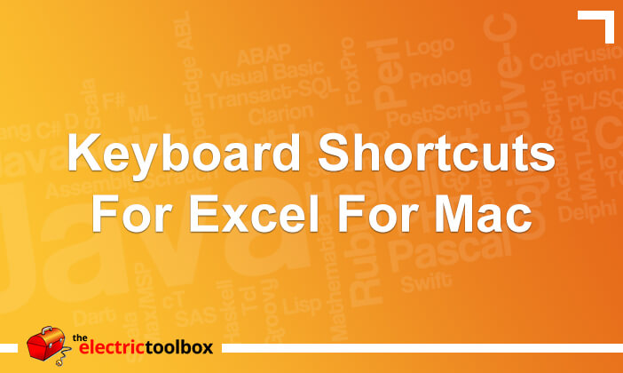 Keyboard shortcuts for Excel for Mac
