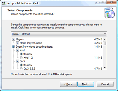 installing the k-lite codec pack