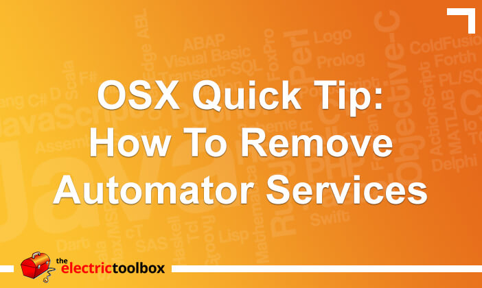 OSX Quick Tip: How to remove automator services