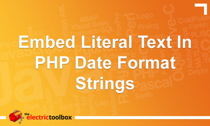 Embed literal text in PHP date format strings