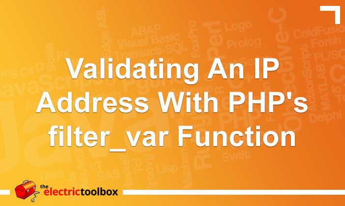 Validating an IP address with PHP's filter_var function