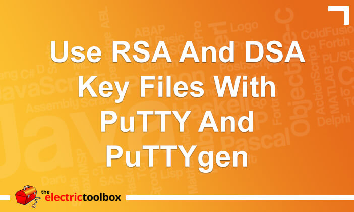 Use RSA and DSA key files with PuTTY and puttygen