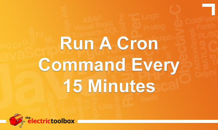 Run a cron command every 15 minutes
