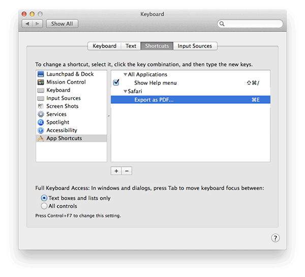 new shortcut is saved