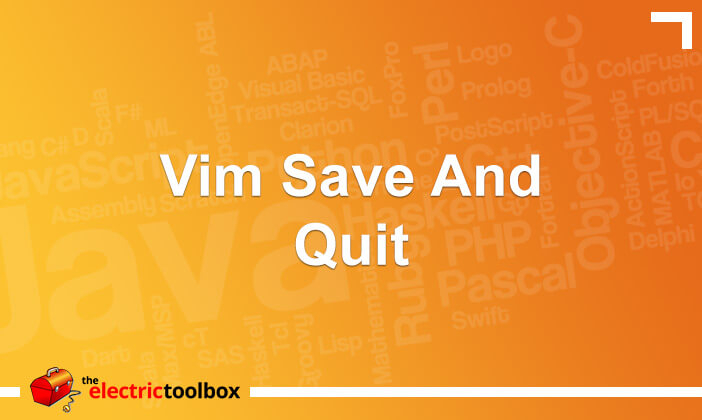 Vim save and quit